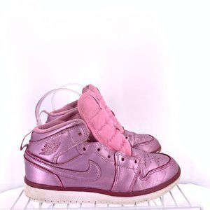 Nike Air Jordan 1 Mid Pink Rise Size 1y